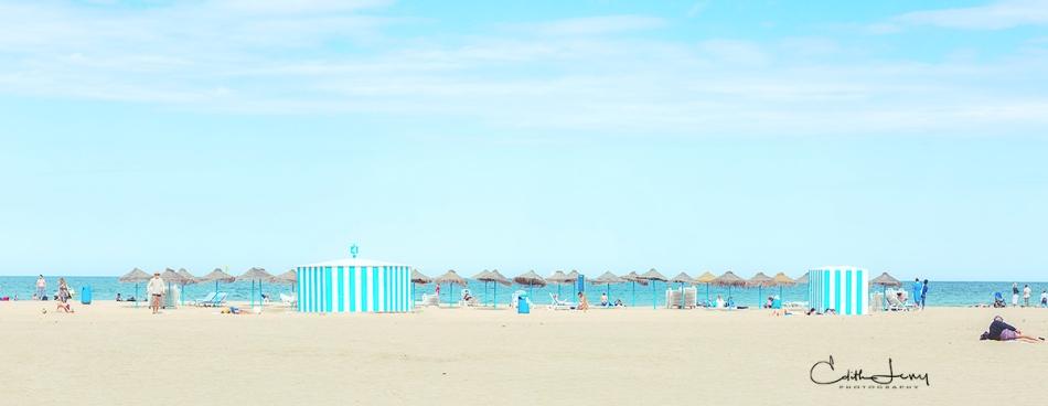 Malaga, Spain, beach, sea, sunbathing, vacation, travel