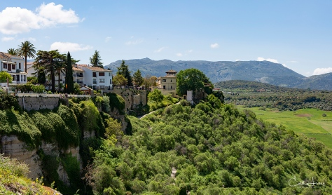 Ronda, Spain, valley, mountains, village, Puente Nuevo, bridge, city on the edge, travel photography